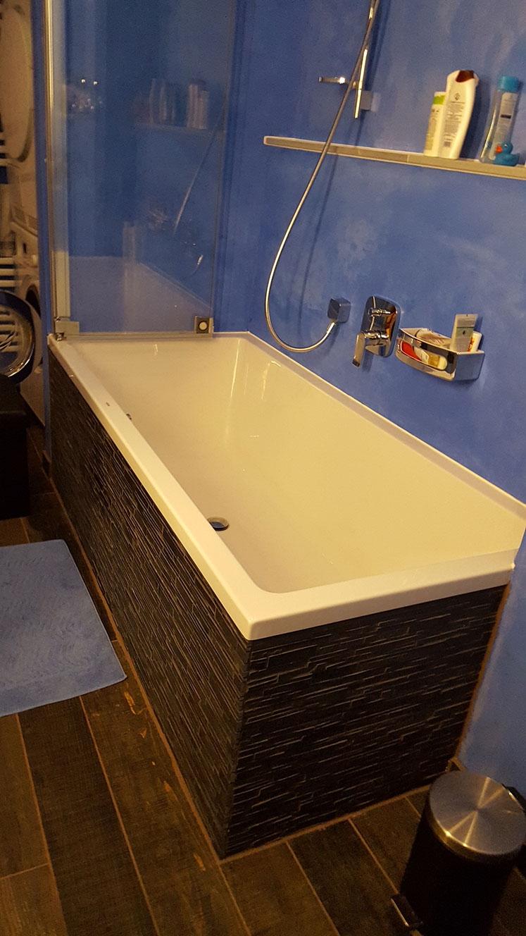Bad mit Kalkspachteltechnik