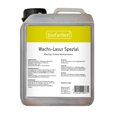 Biofarben Wachs-Lasur spezial - wasserabweisender Schutzanstrich