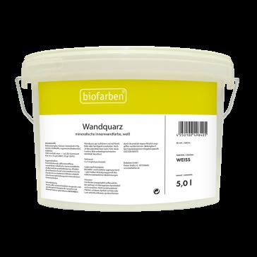Biofarben Wandquarz  baubiologisch zertifiziert, enthält weder Lösemittel noch Konservierer