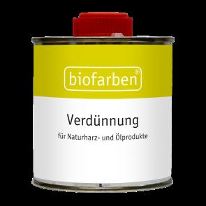 Biofarben Verdünnung und Pinselreiniger - klar, farblos, milder Geruch