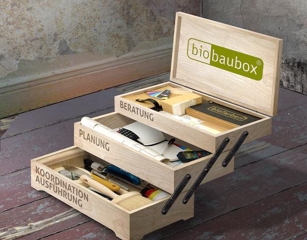 Biofarben Baubox ist ein Komplettservice für ökologisches Bauen und Renovieren von der Beratung, Planung und Koordination bis zur Ausführung.