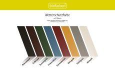 Farbkarte Biofarben Wetterschutzfarbe